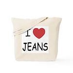 I heart jeans Tote Bag