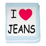 I heart jeans baby blanket