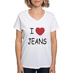 I heart jeans Women's V-Neck T-Shirt