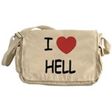 I heart hell Messenger Bag