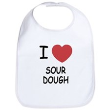 I heart sourdough Bib