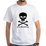 &quot;No Mumbling&quot; Steno Skull Black, Front Only Shirt