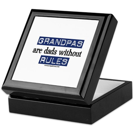 Grandpas are...rules! Keepsake Box
