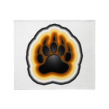 Bear Pride Glowing Paw Throw Blanket
