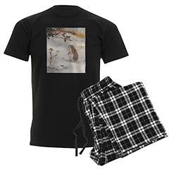 1927 Christmas Bunny Men's Dark Pajamas
