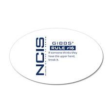 NCIS Gibbs' Rule #16 38.5 x 24.5 Oval Wall Peel