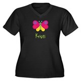Kristi The Butterfly Women's Plus Size V-Neck Dark
