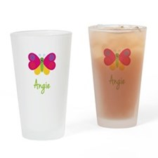 Angie The Butterfly Drinking Glass