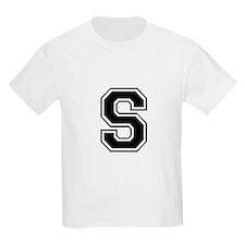Varsity Letter S Kids T-Shirt