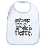 She is Fierce Shakespeare Bib
