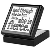 She is Fierce Shakespeare Keepsake Box