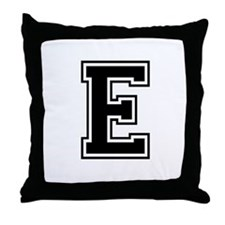 Varsity Letter E Throw Pillow