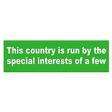 special interests... Bumper Bumper Sticker