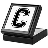 Varsity Letter C Keepsake Box