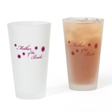 Mother of the Bride Flowers Drinking Glass