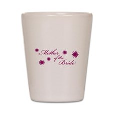Mother of the Bride Flowers Shot Glass