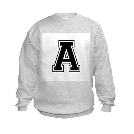 Varsity Letter A Kids Sweatshirt