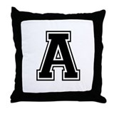 Varsity Letter A Throw Pillow