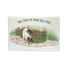 The Fuzz Butt Gardener Rectangle Magnet (100 pack)