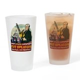 Ron Paul vs Zombie Washington Drinking Glass
