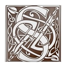 Celtic Letter S Tile Coaster
