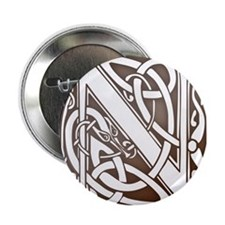 Celtic Letter N Button