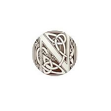 Celtic Letter N Mini Button