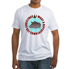 Hippo for Christmas Fitted T-Shirt