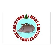 Hippo for Christmas Postcards (Package of 8)