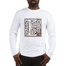Celtic Letter E Long Sleeve T-Shirt