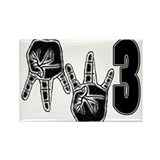 mw3 gangsta Rectangle Magnet (10 pack)