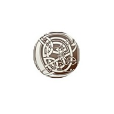 Celtic Letter C Mini Button