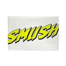 smush yellow Rectangle Magnet