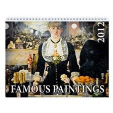 Famous Paintings 2 Wall Calendar