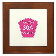 Pink 30A Framed Tile