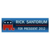 Rick Santorum For President Bumper Sticker
