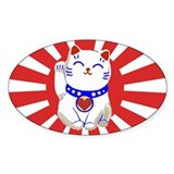 Lucky cute neko cat on rising Decal