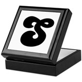 Fun Funky letter S Keepsake Box