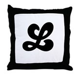 Fun Funky letter L Throw Pillow
