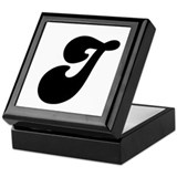 Fun Funky letter J Keepsake Box