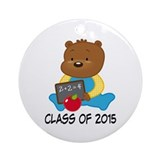 Class of 2015 Teddy Bear Ornament (Round)