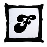 Fun Funky letter F Throw Pillow