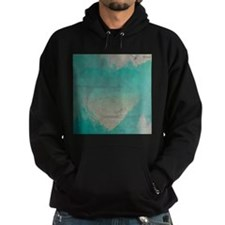 Aqua Heart Abstract Hoodie