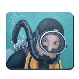 Double Hose Diver Mousepad