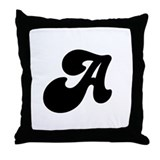 Fun Funky letter A Throw Pillow