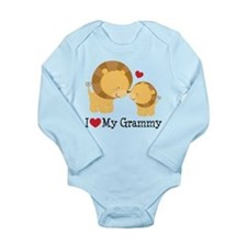 I Heart My Grammy Long Sleeve Infant Bodysuit