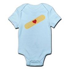 Broken Heart Band Aid Infant Bodysuit
