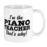 Funny Piano Teacher Small Mug