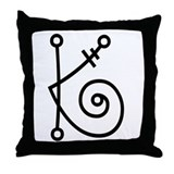 Whimsy letter K Throw Pillow