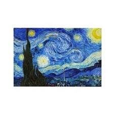 Van Gogh - Starry Night Rectangle Magnet